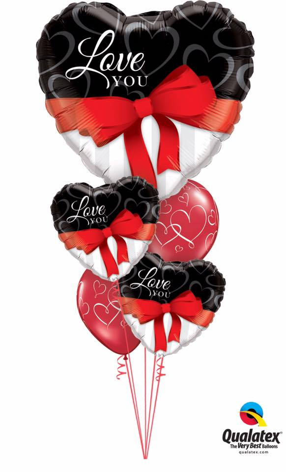 Hearts For Your Love Balloon Bouquet