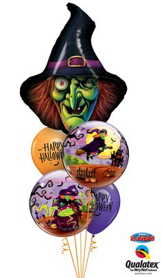 Wicked Witch Halloween Balloon Bouquet